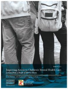 Improving Access to Children's Mental Health Care - Center for Health ...
