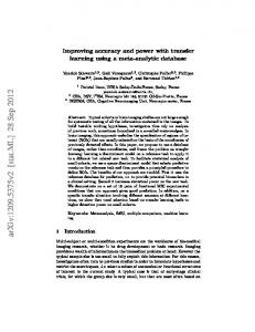 Improving accuracy and power with transfer learning using a meta ...