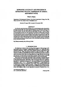 IMPROVING ACCURACY AND PRECISION IN ... - Springer Link