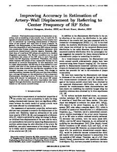 Improving Accuracy in Estimation of Artery-Wall