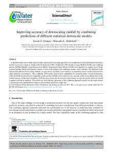 Improving accuracy of downscaling rainfall by