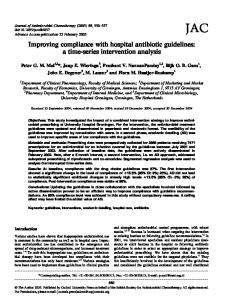 Improving compliance with hospital antibiotic ... - Oxford Academic