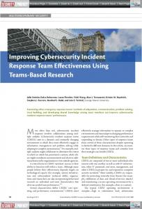 Improving Cybersecurity Incident Response Team ...