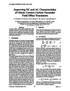 Improving DC and AC Characteristics of Ohmic Contact Carbon ...