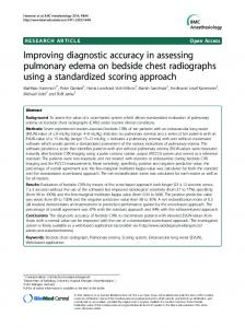 Improving diagnostic accuracy in assessing pulmonary edema on ...