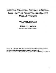 improving educational outcomes in america: can a ... - The Wing Institute