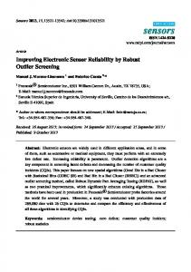 Improving Electronic Sensor Reliability by Robust Outlier ... - MDPI