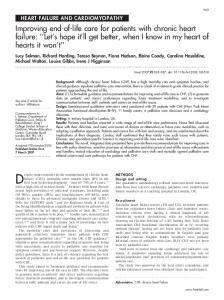 Improving end-of-life care for patients with chronic heart ... - Heart - BMJ