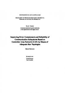 Improving Error Containment and Reliability of Communication