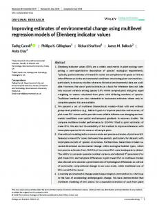 Improving estimates of environmental change ... - Wiley Online Library