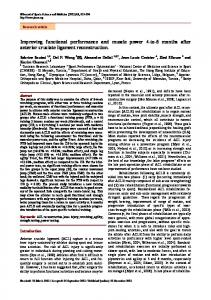 Improving functional performance and muscle ... - Semantic Scholar