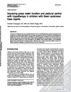 Improving gross motor function and postural control ...