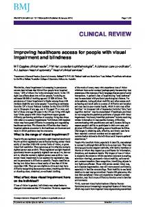 Improving healthcare access for people with visual impairment and ...