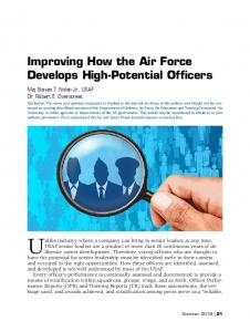 Improving How the Air Force Develops High-Potential ... - Air University