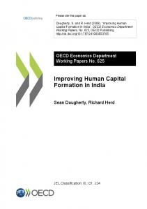 Improving Human Capital Formation in India - OECD iLibrary