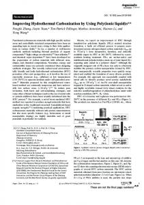 Improving Hydrothermal Carbonization by Using Poly ...
