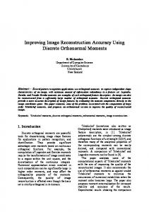 Improving Image Reconstruction Accuracy Using