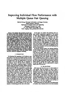 Improving Individual Flow Performance with Multiple ... - CiteSeerX