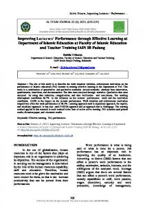 Improving Lecturers' Performance through Effective ... - Al-Ta lim Journal