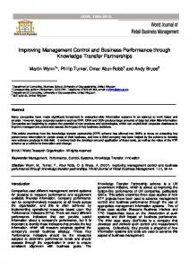 Improving Management Control and Business Performance through ...