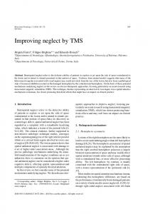 Improving neglect by TMS - Hindawi