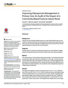 Improving Osteoporosis Management in Primary Care ...