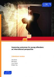 Improving outcomes for young offenders - Education Development Trust