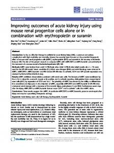 Improving outcomes of acute kidney injury using ... - Semantic Scholar