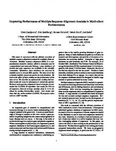 Improving Performance of Multiple Sequence Alignment ... - CiteSeerX
