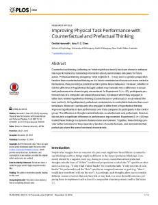 Improving Physical Task Performance with ... - Semantic Scholar