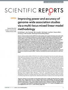 Improving power and accuracy of genome-wide