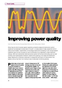 Improving power quality (PDF Download Available)