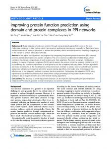 Improving protein function prediction using domain and protein ...