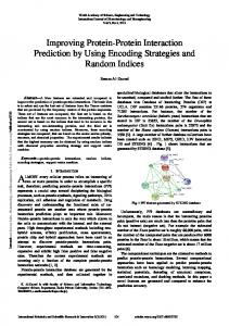 Improving Protein-Protein Interaction Prediction by Using ... - waset