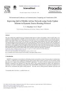 Improving QoS of Mobile Ad-hoc Network Using ... - Science Direct