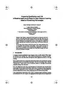 Improving Qualification and Life of disadvantaged young People by ...