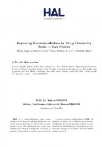Improving Recommendations by Using Personality Traits in User ...