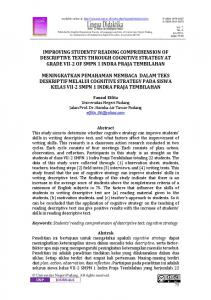 improving students' reading comprehension of
