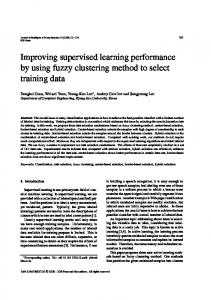 Improving supervised learning performance by ... - Semantic Scholar