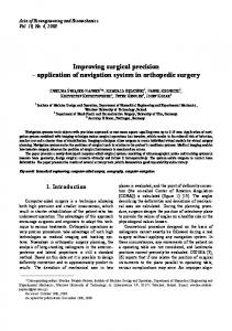 Improving surgical precision - ACTA OF BIOENGINEERING AND ...