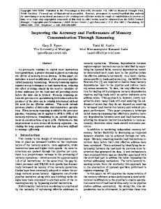 Improving the Accuracy and Performance of Memory ... - CiteSeerX