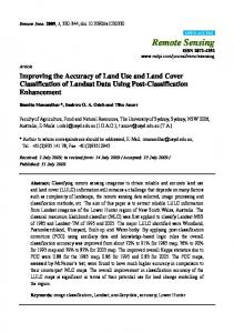 Improving the Accuracy of Land Use and Land Cover ... - MDPI