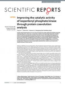 Improving the catalytic activity of isopentenyl phosphate ... - Nature