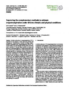 Improving the complementary methods to estimate evapotranspiration ...