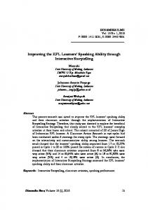 Improving the EFL Learners' Speaking Ability through Interactive ... - Eric