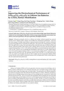 Improving the Electrochemical Performance of LiNi0.80Co0 ... - MDPI