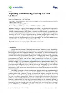 Improving the Forecasting Accuracy of Crude Oil Prices - MDPI