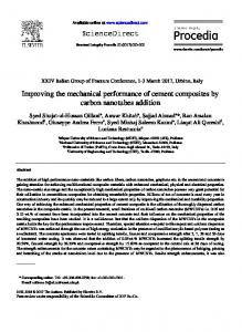 Improving the mechanical performance of cement ...