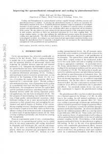 Improving the optomechanical entanglement and cooling by ...