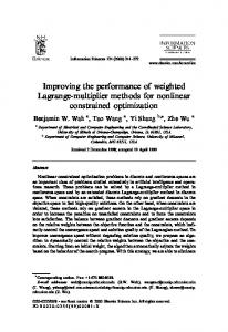 Improving the performance of weighted Lagrange ... - CiteSeerX
